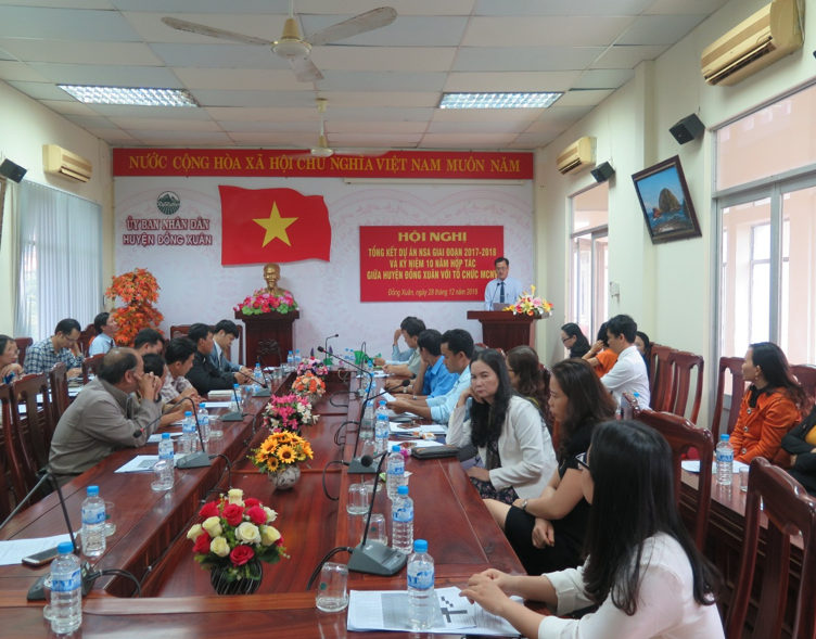 The Institute for Community Health Research attended the NSA project closing ceremony in the period of 2017-2018 and developed the plan for 2019-2020 in Dong Xuan district, Phu Yen province