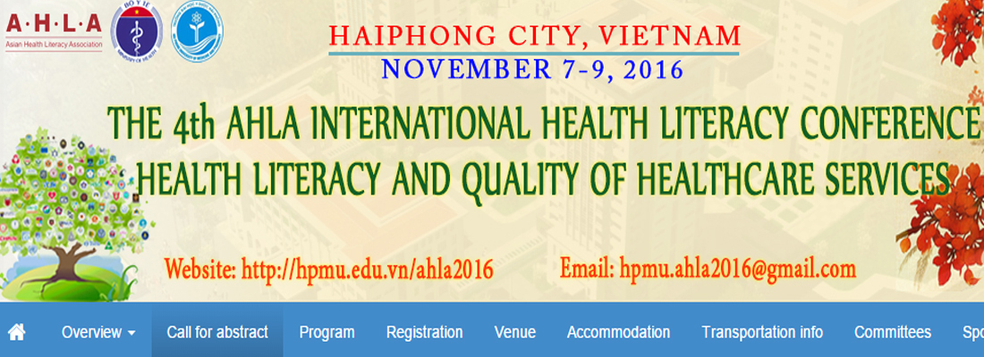 The 4th International Health Literacy Conference: Call for Abstract
