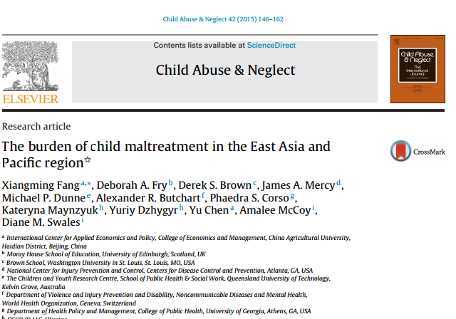 The burden of child maltreatment in the East Asia and Pacific region