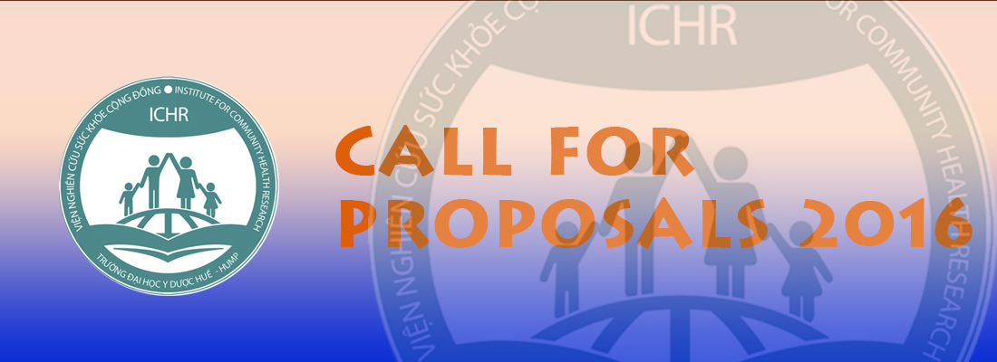 Call for proposals 2016