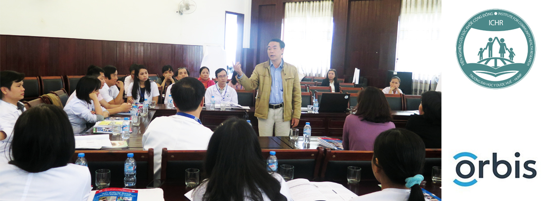 Training course for staff in Hue ophthalmology Hospital